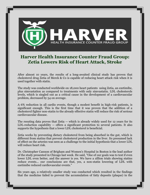 Harver Health Insurance Counter Fraud Group