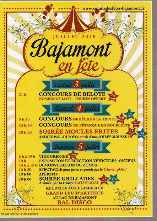Fête du Village Bajamont 2015 - Programme Sponsors2