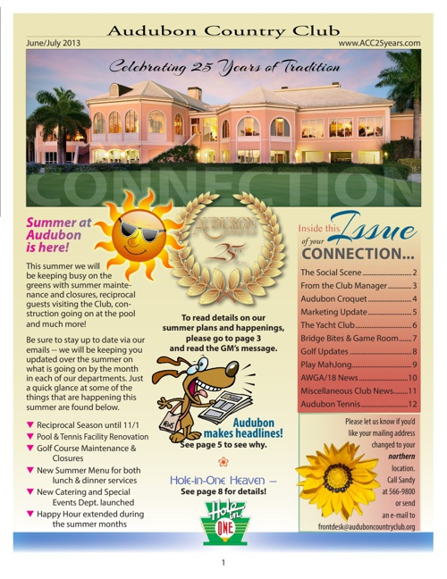 Audubon Country Club of Naples Newsletter June / July 2013