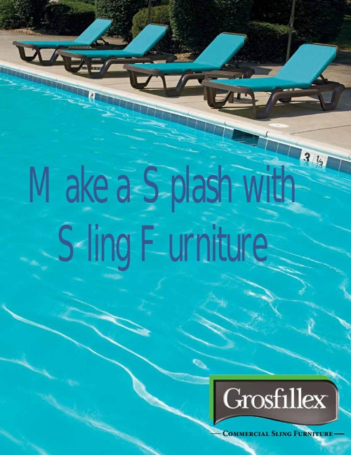 Grosfillex Sling Chaise Flyer