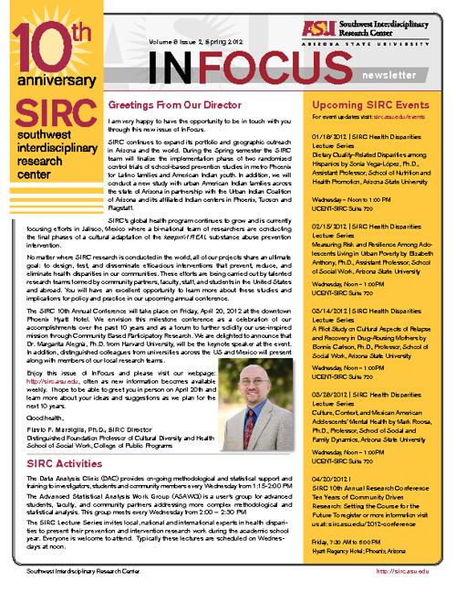 SIRC InFocus Newsletter