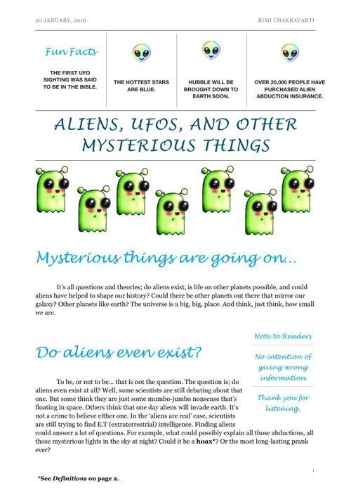Aliens & UFOs by Rimi
