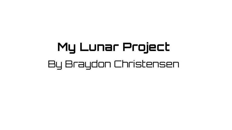 The Lunar Project (1)