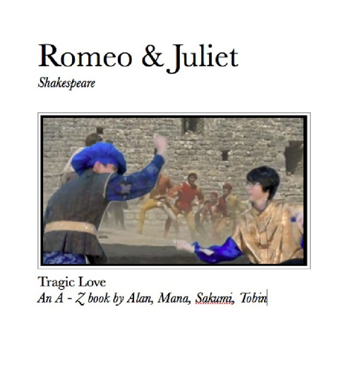 An A-Z book for Romeo and Juliet