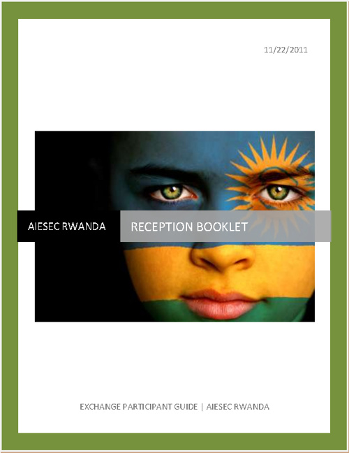 AIESEC RWANDA RECEPTION BOOKLET