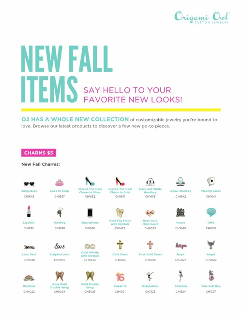 Origami Owl 2013-2014 Fall Collection