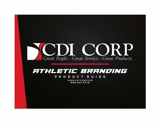 CDI CORP - ATHLETIC BRANDING - PRODUCT GUIDE