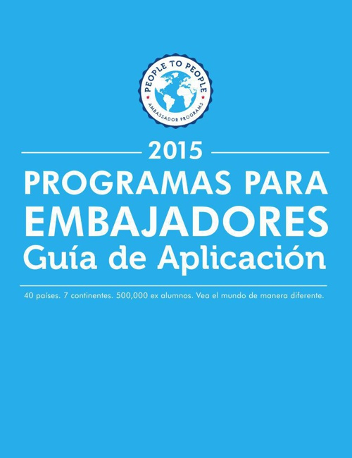 2015 Student Ambassador Application Guide (en Español)