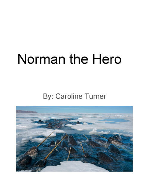 Children's Book Template for Creative Writing 1B - Turner, Carol