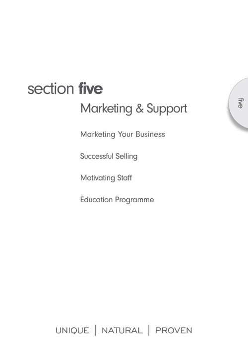 Monu Therapist manual - Section 5 - Marketing & Support