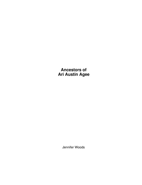 Ancestors of Ari Agee