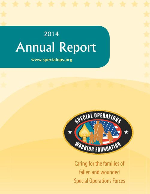 Special Operations Warrior Foundation Annual Report 2014