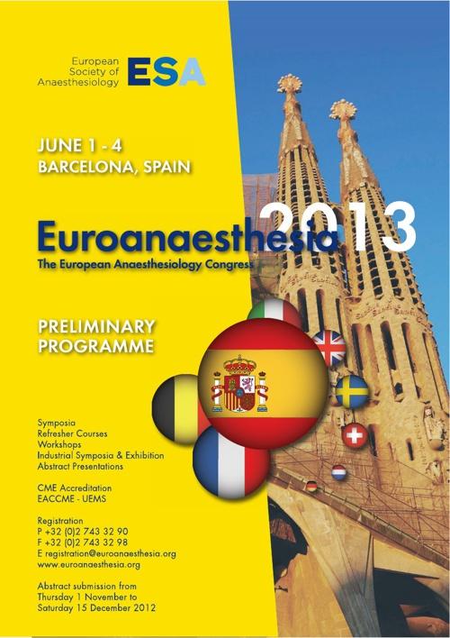 Euroanaesthesia 2013
