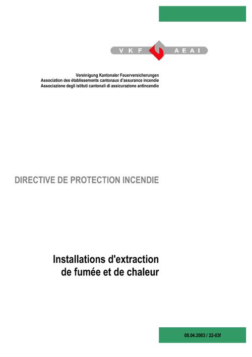 22-03 Installations d'extraction de fumée et de chaleur