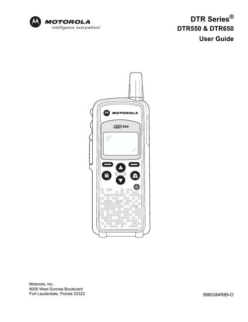 Motorola DTR650 Document Library