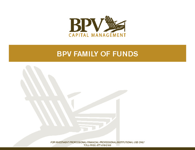 BPV Family of Funds Q2 Pitch Book