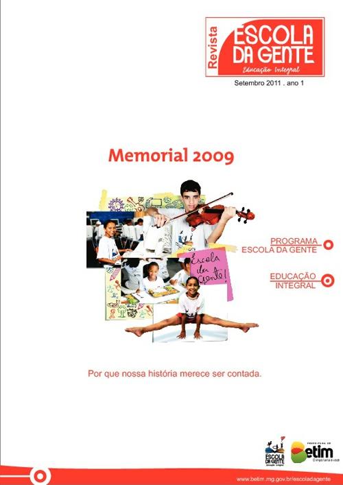 PUBLICAÇÃO ESCOLA DA GENTE MEMORIAL 2009 OFICIAL.