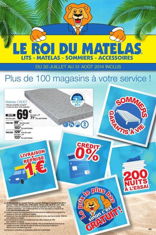 LE ROI DU MATELAS - AOUT