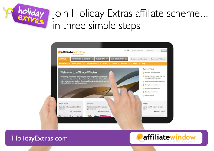 Holiday Extras Affiliate Programme - How to sign up