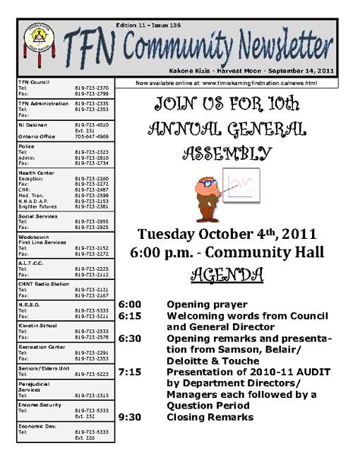 TFN Newsletter - September 14, 2011