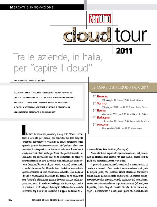ClubTi Marche al Cloud Tour 2011 di ZeroUno
