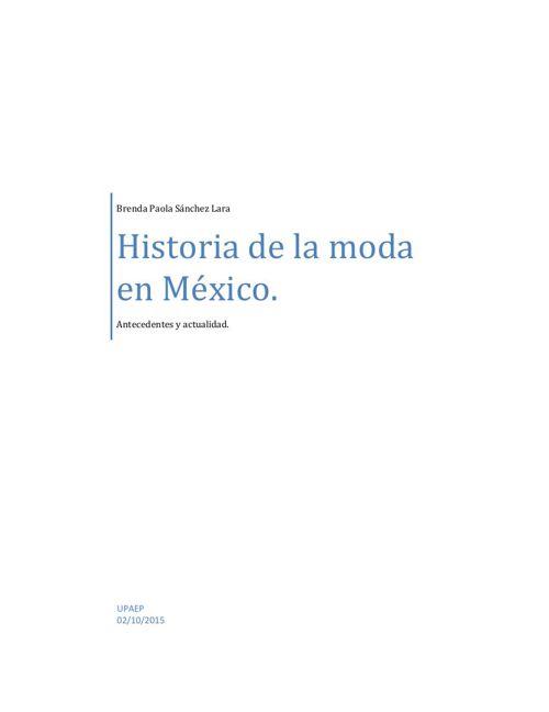 Historia de la moda en México