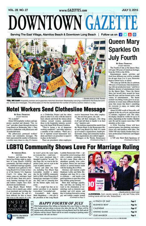 Downtown Gazette  |  July 3, 2015
