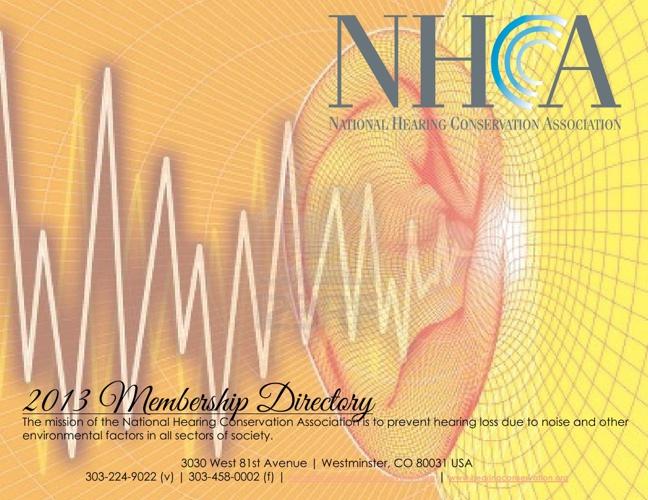 NHCA 2013 Membership Directory