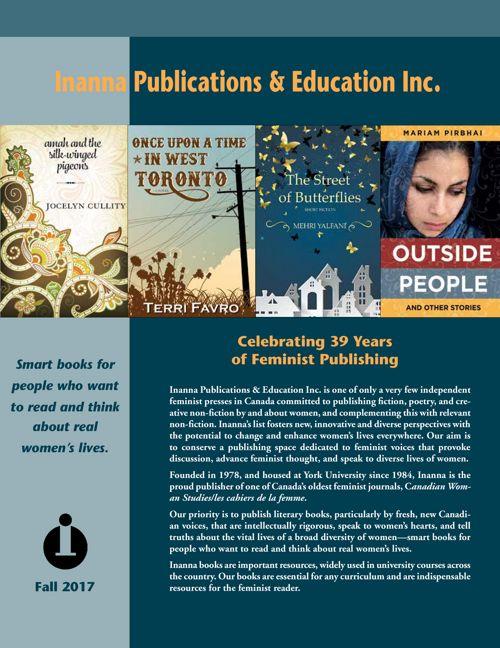 Inanna Publications Fall 2017 catalogue
