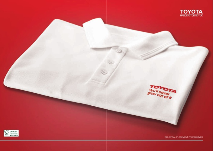 TOYOTA Industrial Placement Brochure 2013