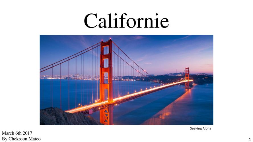 Californie De Mateo Chekroun