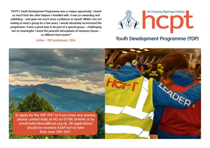 HCPT Youth Development Programme