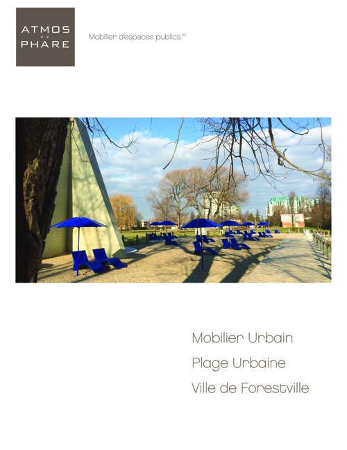 Mobilier_Plage Urbaine_Ville de Forestville