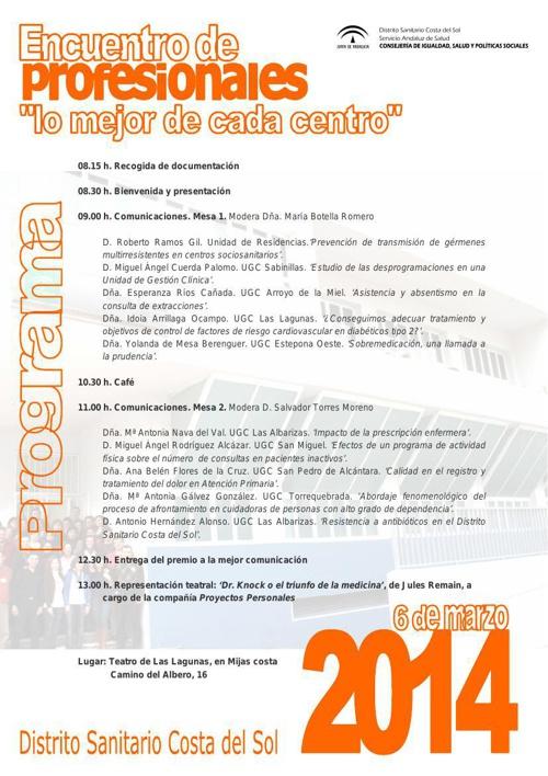V Jornada del Profesional 2014 (Cartel)