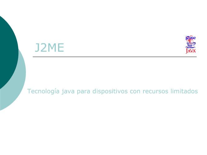 Presentación J2ME