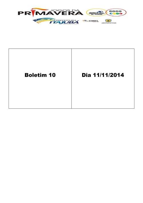 Boletim 10 Jogos de Primavera 2014
