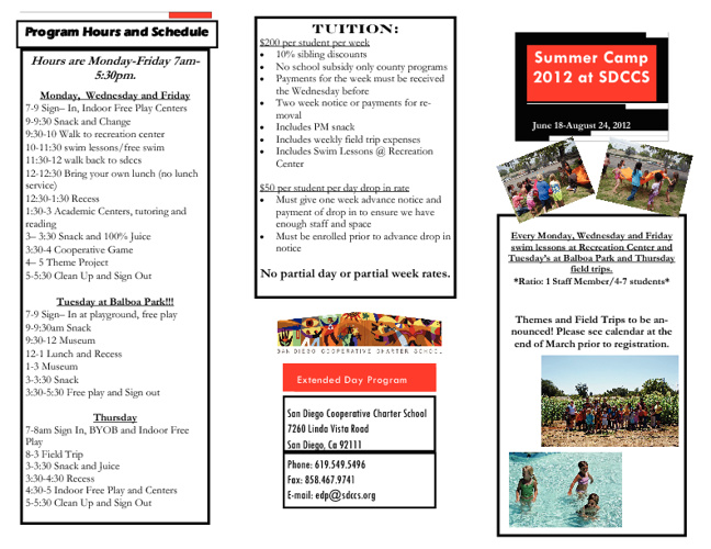 SDCCS EDP Summer Camp 2012
