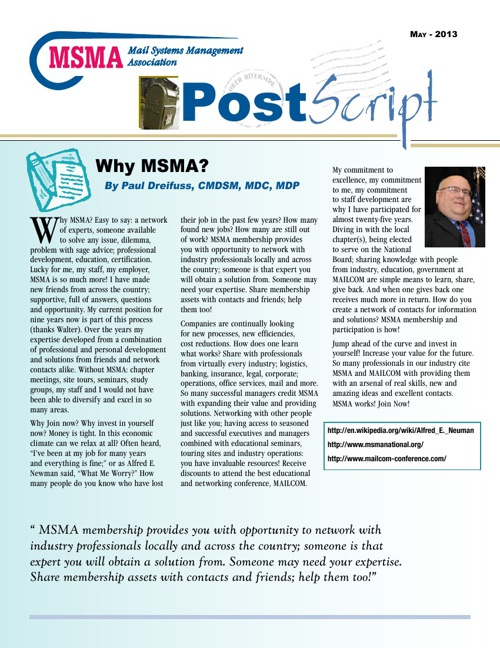 Postscript Newsletter June 2013