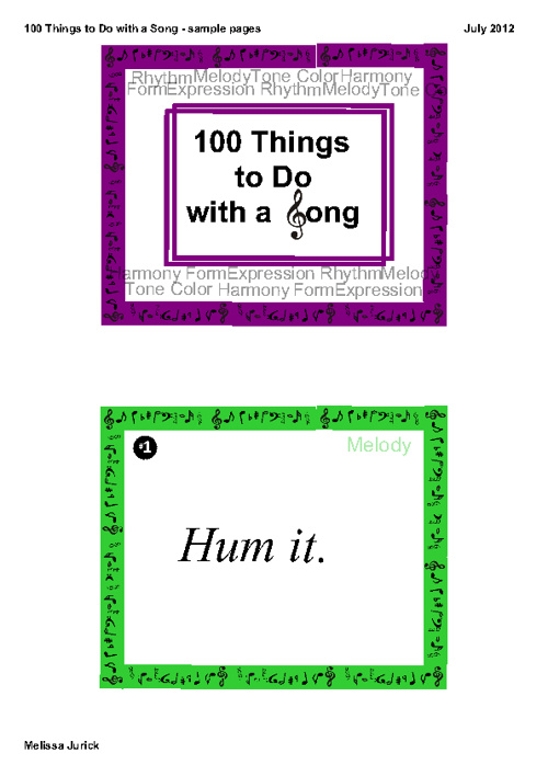 100 Things to Do with a Song