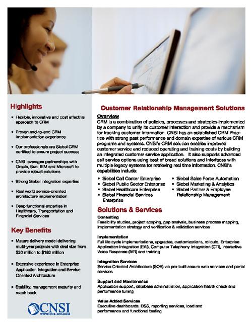 CNSI CRM Brochure
