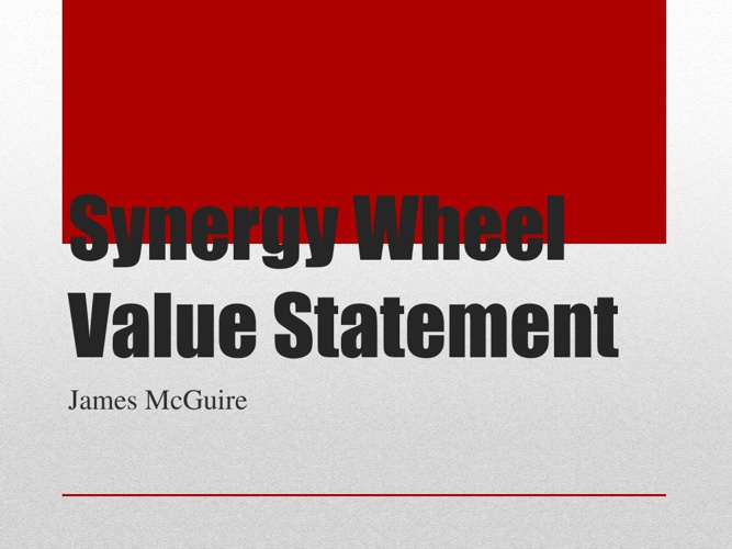 Synergy Wheel Value Statement