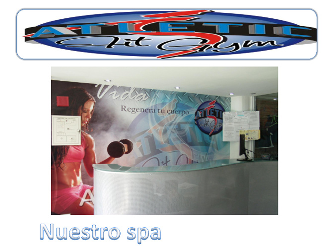 instalaciones del spa del gimnasio Atletic fit gim