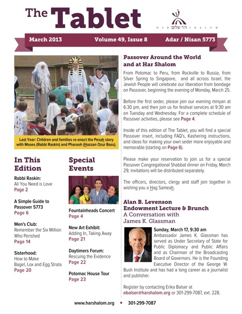 Table Newsletter March 2013