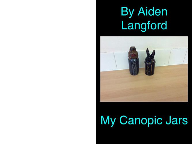 Canopic jars Aiden Langford