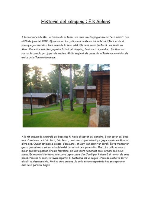 Historia del camping: ''Els solans''