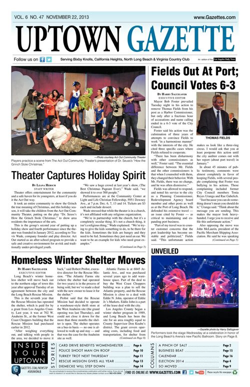 Uptown Gazette  |  November 22, 2013