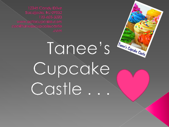 Tanee's Cupcake Castle