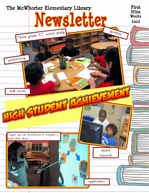 First Nine Weeks Library Report 2012