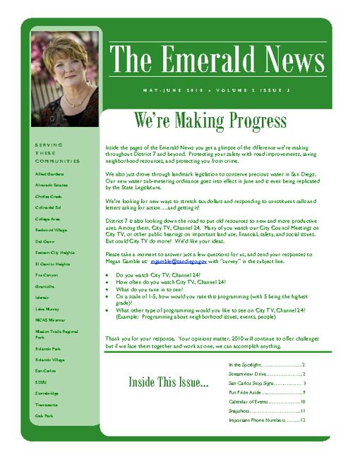 The Emerald News: Volume 2, Issue 3 (May/June 2010)