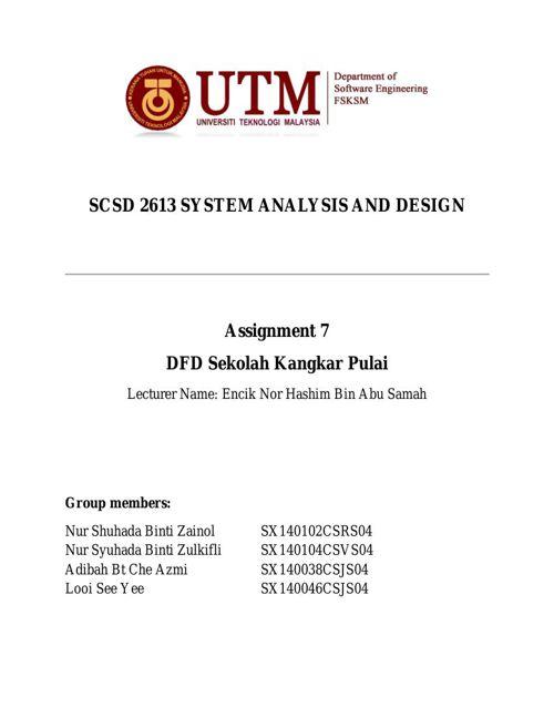 SCSD2613 Assignment 7 - DFD Sekolah Kangkar Pulai